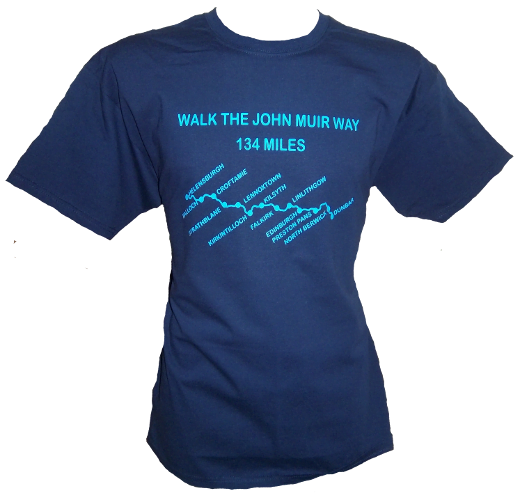 G63 – Adults T-shirt – Walk the John Muir Way
