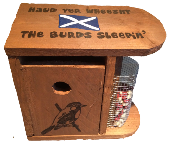 Woods – Bird hut – Haud yer wheesht the burds sleepin
