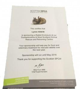 SSPCA - Sponsor Certificate